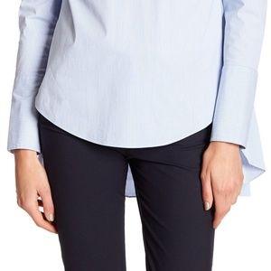 Veronica Beard Tops - Veronica Beard Greer Stripe Back Ruffle Shirt